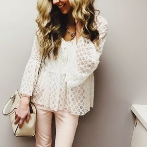 Tops - Lacy white eyelet top
